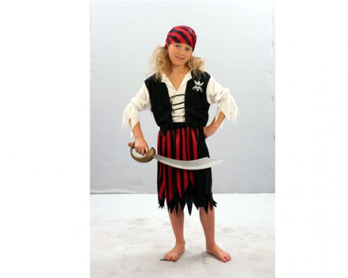 Disfraz de Pirata niña 2-4 años económico