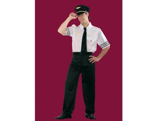 Disfraz de Piloto De Vuelo Adulto Económico