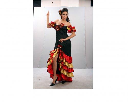 Disfraz de Bailaora Flamenca Adulto Económico