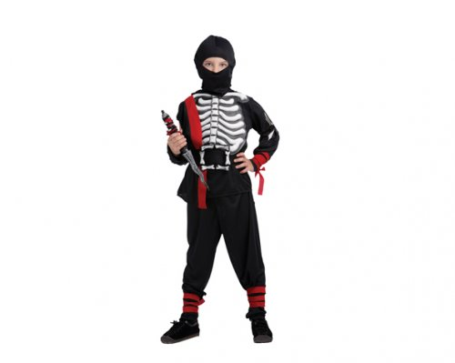 Disfraz de Ninja Esqueleto 4-6 Años Económico