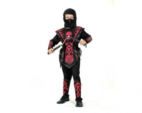 Disfraz de Ninja Rojo 7-9 Años Económico