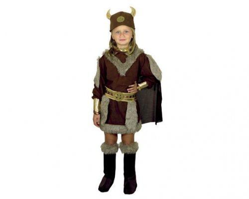 Disfraz de Vikinga 7-9 Años Económico