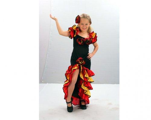 Disfraz de Bailarina de Rumba 7-9 años económico
