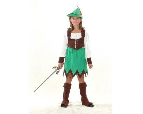 Disfraz de Robin Hood niña 7-9 años económico