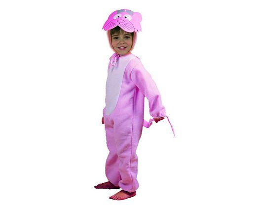Disfraz de gatito rosa Talla 1 (3 – 4 años) años