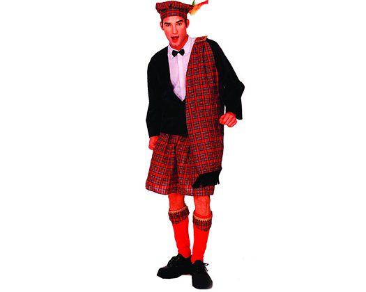 Disfraz de escoces hombre adulto