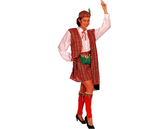 Disfraz de escocesa mujer Talla 2 (M-L)