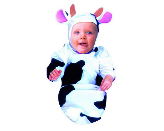 Disfraz de pequeña vaca bebe