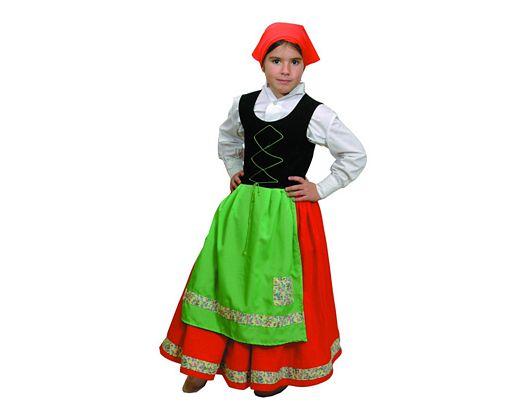 Disfraz de pastora roja y verde 4-6 años