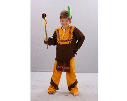 Disfraz de Indio Marrón 7-9 Años Económico