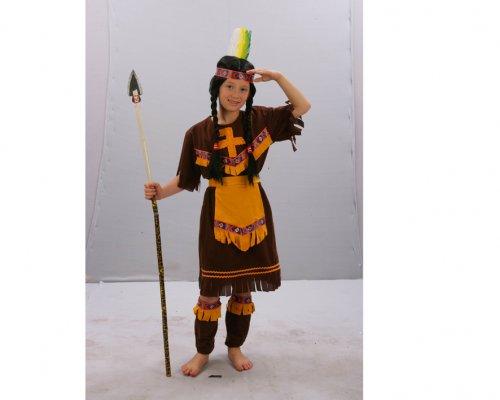 Disfraz de India Marrón 4-6 Años Económico