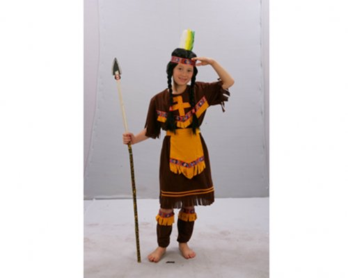 Disfraz de India Infantil Marrón 7-9 Años Económico
