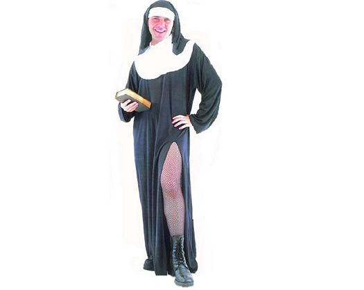 Disfraz de monja adulto hombre