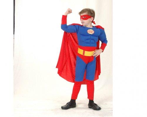 Disfraz de Héroe Musculoso 10-12 Años Económico