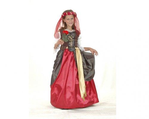 Disfraz de Dama Renacimiento 10-12 Años Económico
