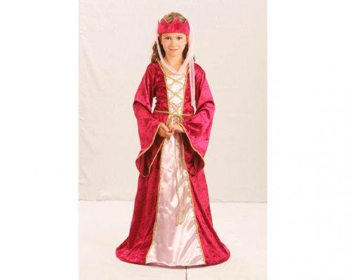 Disfraz de Reina Medieval 4-6 Años Económico