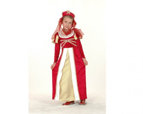 Disfraz de niña Princesa medieval 7-9 años económico