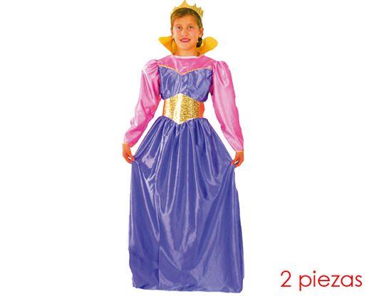Disfraz de reina niñas 5-6 años