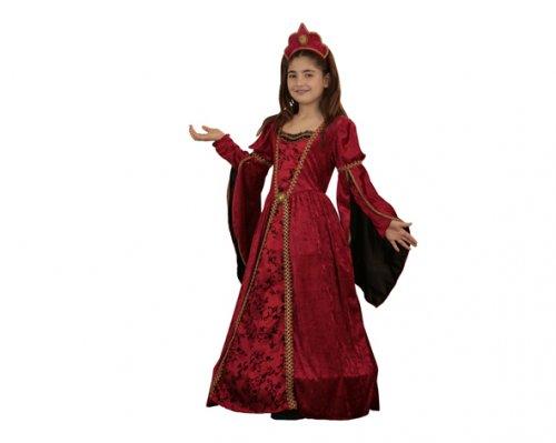 Disfraz de Princesa medieval Radiante 7-9 años