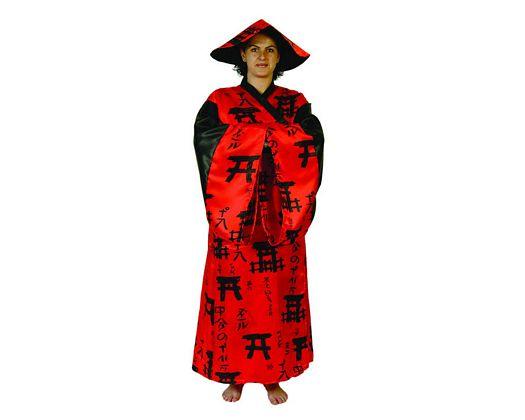 Disfraz de china mujer rojo Talla 2 (M-L)