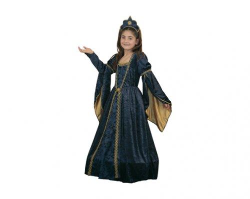 Disfraz de Princesa medieval Majestuosa 7-9 años