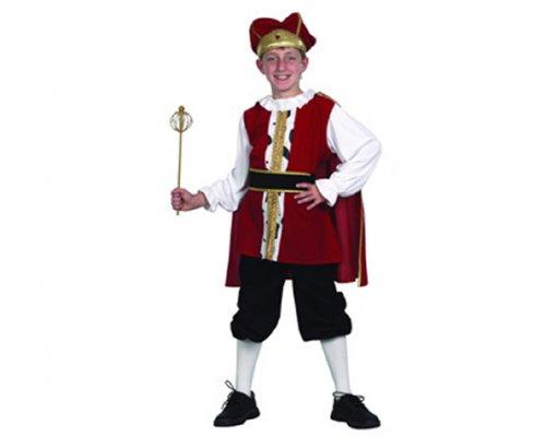 Disfraz de Rey medieval 7-9 años económico