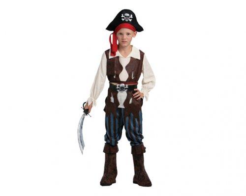 Disfraz de Pirata del Caribe 7-9 años económico