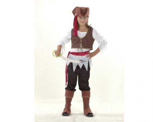 Disfraz de niña Pirata 10-12 años económico