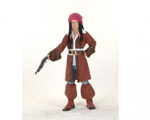 Disfraz de Pirata Caribeño 7-9 años económico
