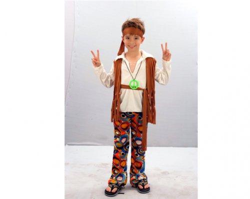Disfraz de niño Hippie 7-9 años económico