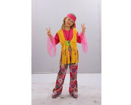 Disfraz de niña Hippie 7-9 años económico