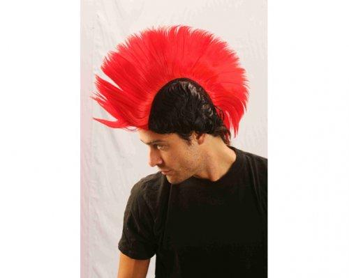 Peluca Mohawk Roja/Negra