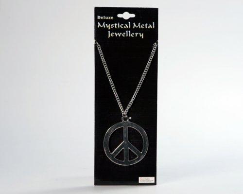 Cadena+Colgante Simbolo Paz Metal