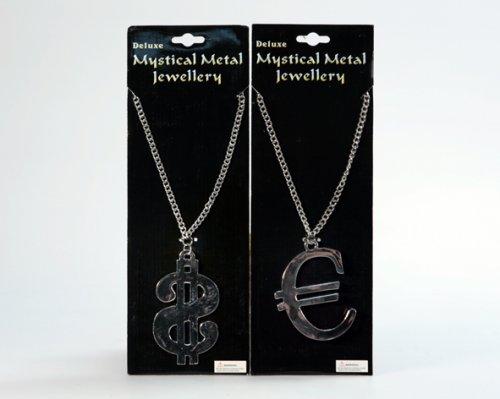 Colgante+Cadena Metal Euro/Dolar