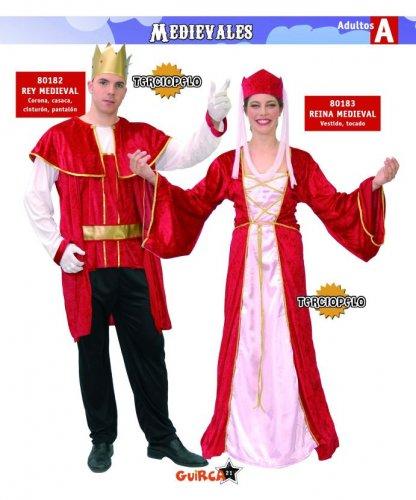 Disfraz de Reina Medieval Adulto