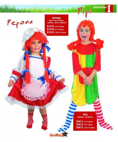 Disfraz de Pepona 4-6 Años