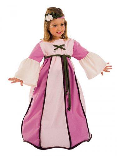 Disfraz de Dama Medieval Deluxe 2 años
