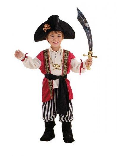 Disfraz de Pirata Aventurero Deluxe 2 años
