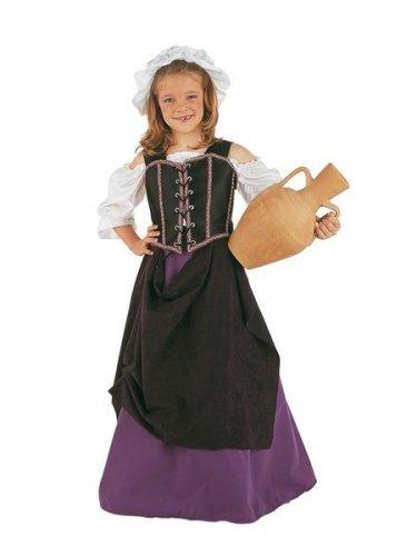Disfraz de Tabernera Medieval infantil deluxe