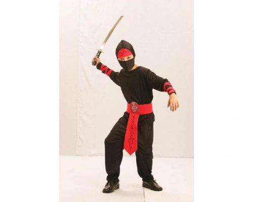 Disfraz de Ninja Gris/Rojo 7-9 Años Económico