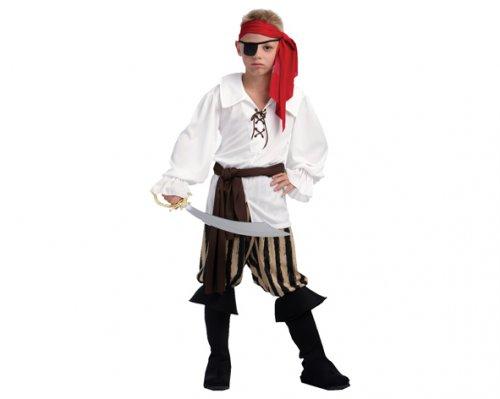 Disfraz de Capitán Pirata 10-12 Años Económico