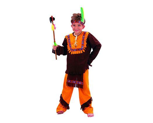 Disfraz de niño indio marron 5-6 años
