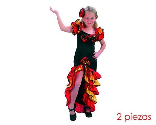 Disfraz de bailarina de rumba niñas 3-4
