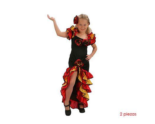 Disfraz de bailarina de rumba niñas 5-6