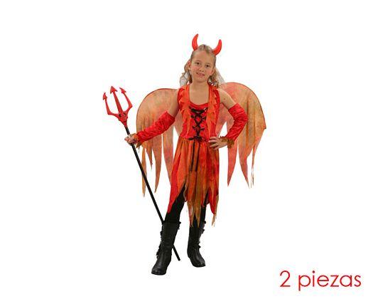 Disfraz de hada maligna niñas Talla 3 (7 – 9 años) años