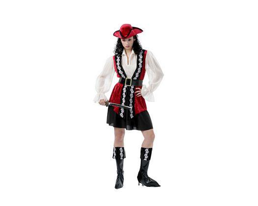 Disfraz de mujer pirata calaveras
