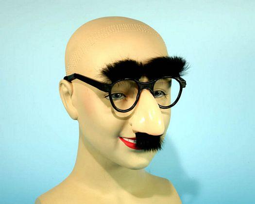 Accesorio gafas con nariz y bigote