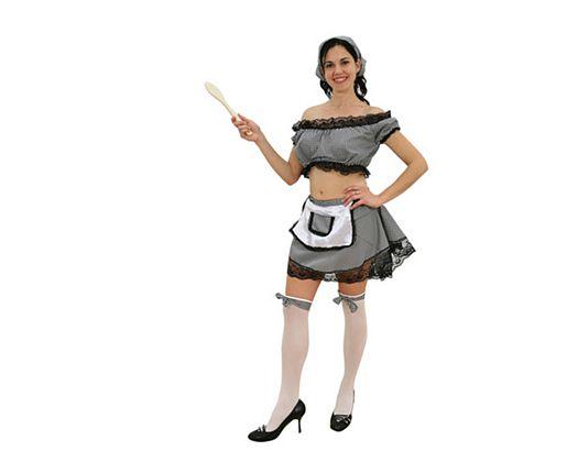 Disfraz de sirvienta sexy mujer
