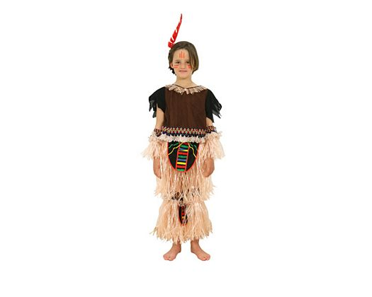Disfraz de niño indio con flecos 5-6 años
