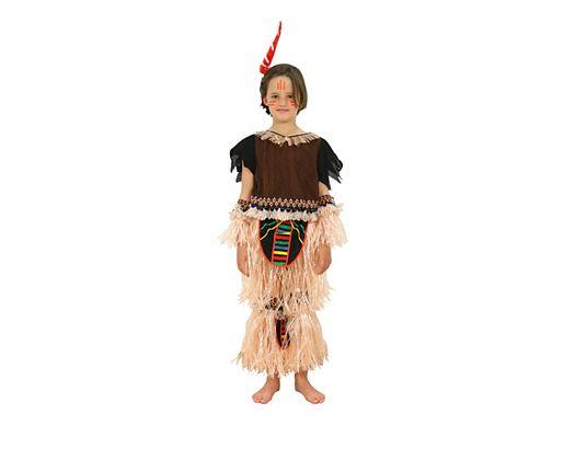 Disfraz de niño indio con flecos Talla 3 (7 – 9 años) años